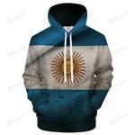 Argentina Flag 3D All Over Print Hoodie, Zip-up Hoodie