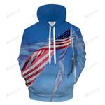 Flying American Flag 3D All Over Print Hoodie, Zip-up Hoodie