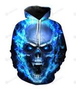 Skulls 3D All Over Print Hoodie, Zip-up Hoodie