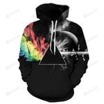 Rainbow Fusion Galaxy 3D All Over Print Hoodie, Zip-up Hoodie
