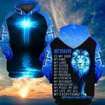 Lion And Cross Jesus is My God, My King 3D All Over Print Hoodie, Zip-up Hoodie