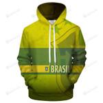 Brazil Logo 3D All Over Print Hoodie, Zip-up Hoodie