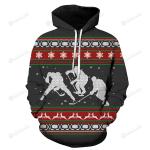 A Merry Hockey Christmas 3D All Over Print Hoodie, Zip-up Hoodie