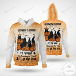 Halloween Is Coming It's The Most Wonderful Time Of The Year Black Cat Twinkles 3D All Over Print Hoodie, Zip-up Hoodie