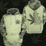 Im Blunt Because God Rolled Me That Way Weed Leaf 3D All Over Print Hoodie, Zip-up Hoodie