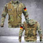 Personalized German Army Veteran Camo 3D All Over Print Hoodie, Zip-up Hoodie
