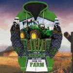 Life Is Simple Eat Sleep And Farm 3D All Over Print Hoodie, Zip-up Hoodie