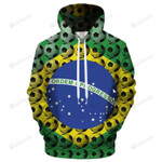 Brazil Soccer Fan 3D All Over Print Hoodie, Zip-up Hoodie