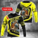 Personalized Heavy Equipment Operator Yellow 3D All Over Print Hoodie, Zip-up Hoodie