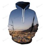 Cape Town 3D All Over Print Hoodie, Zip-up Hoodie