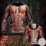 Halloween Human Muscle Costume 3D All Over Print Hoodie, Zip-up Hoodie
