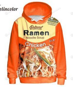 Chicken Ramen 3D All Over Print Hoodie, Zip-up Hoodie