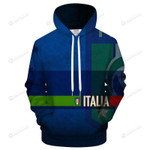 Italy Logo 3D All Over Print Hoodie, Zip-up Hoodie