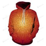 Orange Mandala 3D All Over Print Hoodie, Zip-up Hoodie