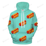Vibrant Hot Dogs 3D All Over Print Hoodie, Zip-up Hoodie