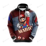 Super Mario Bros 3D All Over Print Hoodie, Zip-up Hoodie