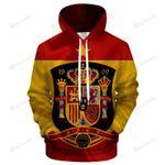 Spain Logo 3D All Over Print Hoodie, Zip-up Hoodie