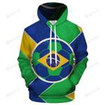 Brazil World Cup 3D All Over Print Hoodie, Zip-up Hoodie