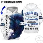 Personalized Custom Name January Girl Make No Mistake Lion 3d All Over Print Hoodie, Zip-Up Hoodie