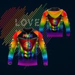 LGBT Lightning Lip lick Pride  3D All Over Print Hoodie, Zip-up Hoodie