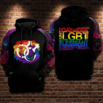 LGBT Dragon Bisexual 3D All Over Print Hoodie, Zip-up Hoodie