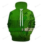 Bright Green Mexico World Cup 3D All Over Print Hoodie, Zip-up Hoodie