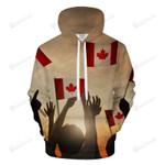 Canadian Cheer 3d All Over Print Hoodie, Zip-Up Hoodie