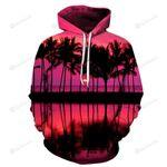 Beautiful Sunset At Hawaii Beach 3D All Over Print Hoodie, Zip-up Hoodie