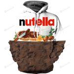 Nutella 3D All Over Print Hoodie, Zip-up Hoodie