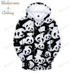 Panda 3D All Over Print Hoodie, Zip-up Hoodie