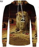 Lion 3D All Over Print Hoodie, Zip-up Hoodie