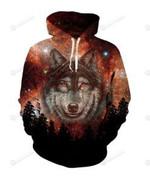 Wolf At Night 3D All Over Print Hoodie, Zip-up Hoodie