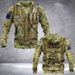 Personalized Custom Name Australian Army Camo Guns And Boots 3d All Over Print Hoodie, Zip-Up Hoodie