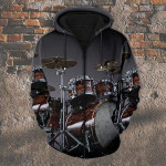 Drummer 3D All Over Print Hoodie, Zip-up Hoodie