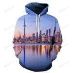 Toronto Skyline 3D All Over Print Hoodie, Zip-up Hoodie