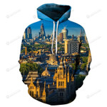 Eyes In London 3D All Over Print Hoodie, Zip-up Hoodie