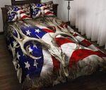 Hunting American Flag Quilt Bedding Set