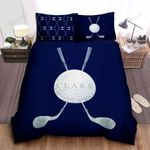 Personalized Custom Name Golf Bed Sheets Spread Duvet Cover Bedding Set