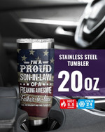 I'M A PROUD SON-IN-LAW Stainless Steel Tumbler, Tumbler Cups For Coffee/Tea