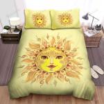 Sunflower Sun Decorative Art Bed Sheets Spread Comforter Duvet Cover Bedding Sets