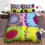 Sunflower Pop Art Portrait Bed Sheets Spread Comforter Duvet Cover Bedding Sets