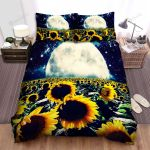 Sunflower Moon Space Galaxy Bed Sheets Spread Comforter Duvet Cover Bedding Sets