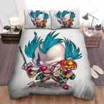 Halloween Chibi Clown Illustration Bed Sheets Spread Duvet Cover Bedding Sets