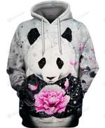 Panda Flowers Hoodie & T Shirt