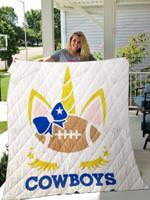 Unicorn Dallas Cowboys Quilt Blanket Ver 1