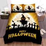Scarecrow, Halloween, Trick Or Treat Bed Sheets Spread Duvet Cover Bedding Sets