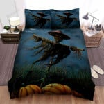 Scarecrow, Halloween, Scarecrow And Cat Bed Sheets Spread Duvet Cover Bedding Sets