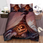 Scarecrow, Halloween, On His Hat Art Bed Sheets Spread Duvet Cover Bedding Sets