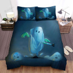 Halloween Funny Ghosts With Human Limbs Bed Sheets Spread Duvet Cover Bedding Sets