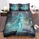 Halloween Ghost Lady At Nowhere Artwork Bed Sheets Spread Duvet Cover Bedding Sets